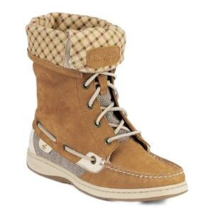 Sperry Topsider Ladyfish High Top Fold Over Boots